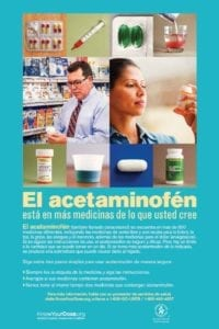 Know Your Dose ALF Spanish Poster