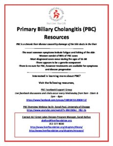 PBC Support Group Information