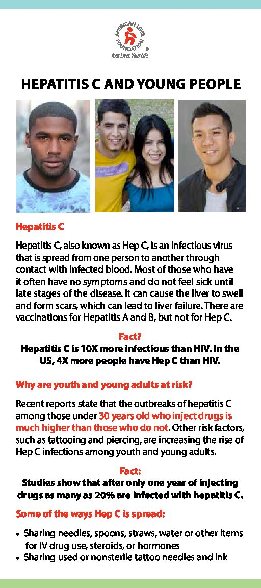 Hepatitis C and Young People at a Glance