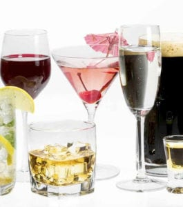 various types of alcoholic drinks