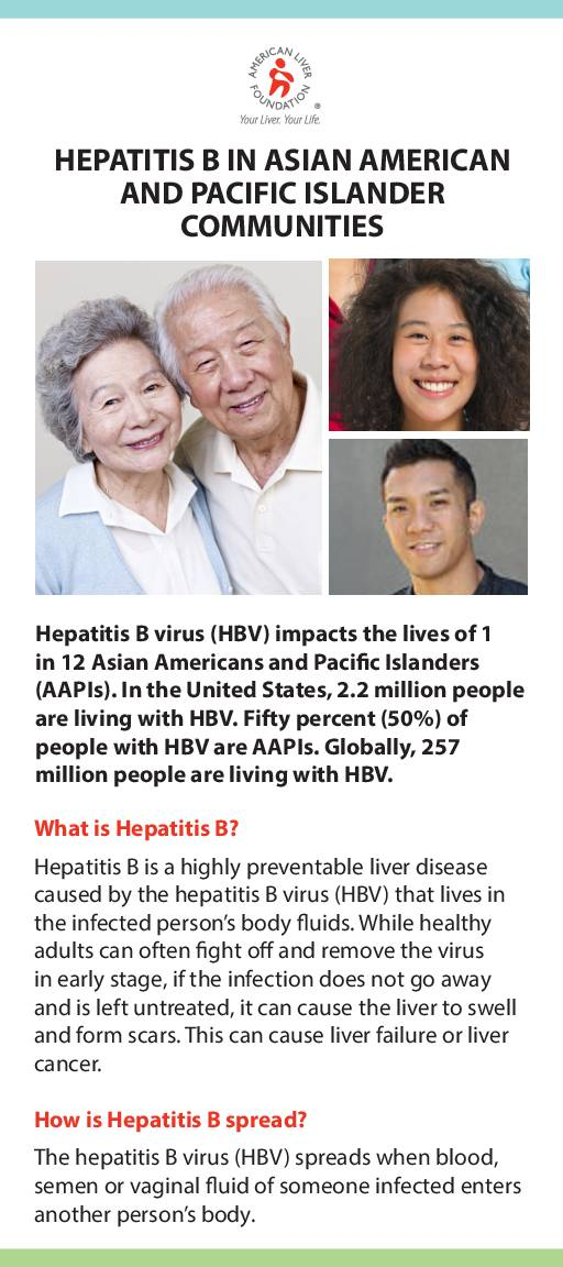 Hepatitis B At-a-Glance Asian American and Pacific Islander Communities