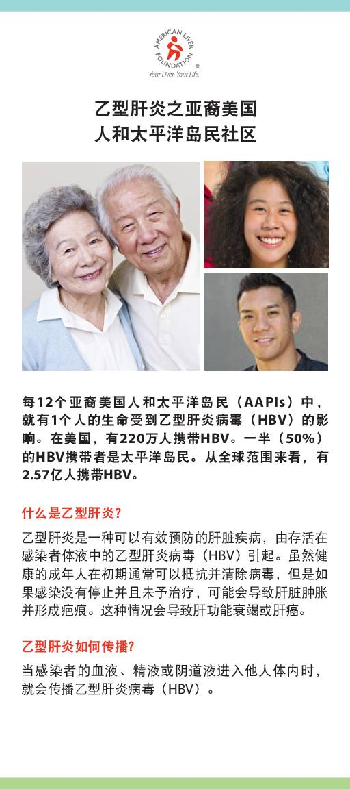 Hepatitis B At-a-Glance Asian American and Pacific Islander Communities (Chinese)