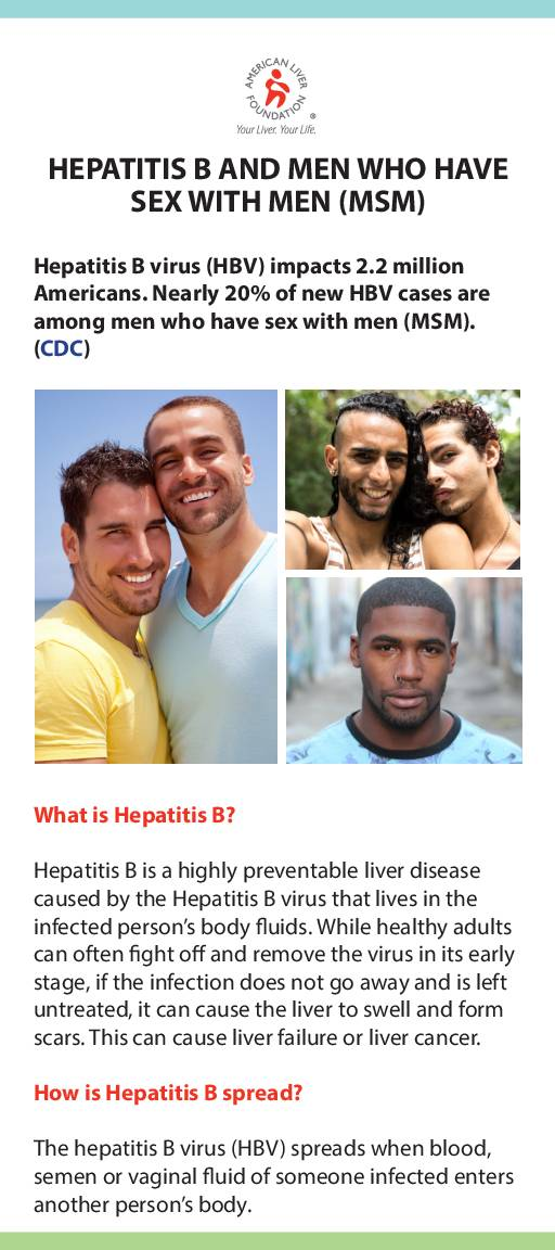 Hepatitis B At-a-Glance Men Who Have Sex with Men MSM